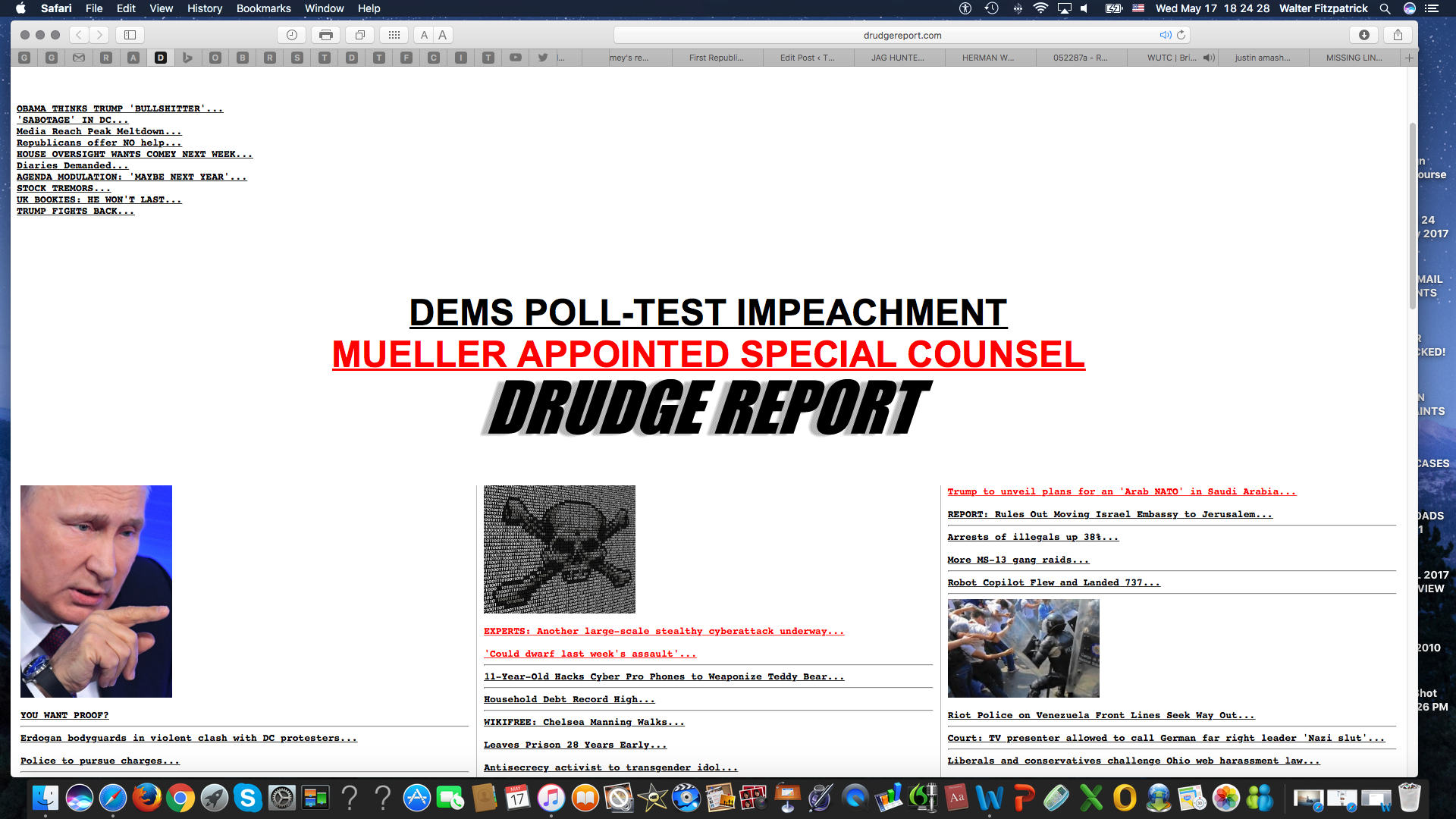 DRUDGE REPORT SCREEN SHOT at 6.24.28 PM