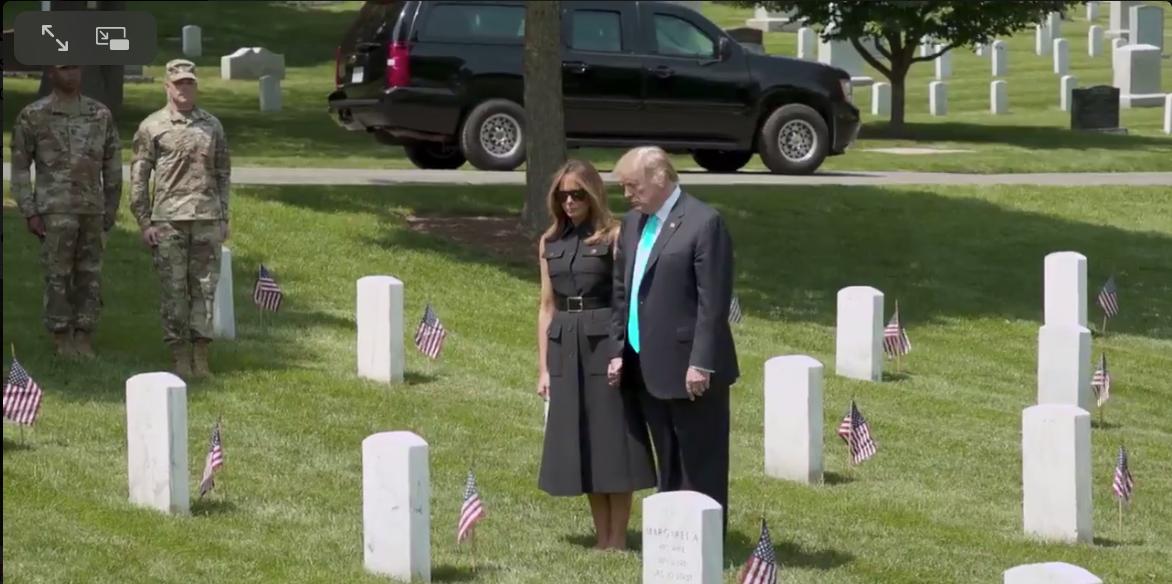 PRESIDENT & MRS TRUMP ARLINGTON 2019 |Screen Shot 2019-05-27 at 12.35.14 PM
