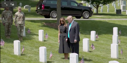 PRESIDENT & MRS TRUMP ARLINGTON 2019 |Screen Shot 2019-05-27 at 12.35.14 PM