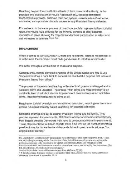 9 OCT 2019 CRIMINAL COMPLAINT filed with USSCOTUS: DOJ : DOD (page 5)