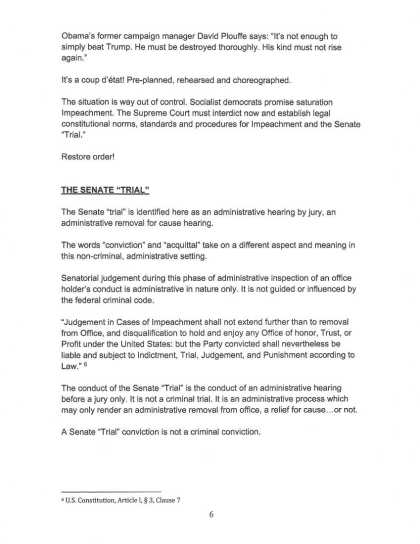 9 OCT 2019 CRIMINAL COMPLAINT filed with USSCOTUS: DOJ : DOD (page 6)