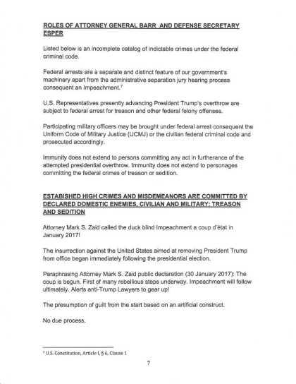 9 OCT 2019 CRIMINAL COMPLAINT filed with USSCOTUS: DOJ : DOD (page 7).jpeg