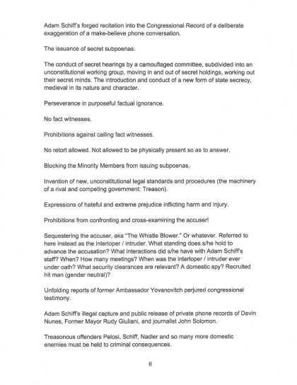 9 OCT 2019 CRIMINAL COMPLAINT filed with USSCOTUS: DOJ : DOD (page 8)